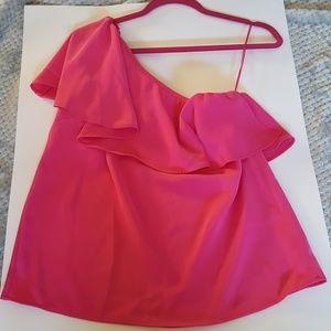 Pink One Shoulder Top